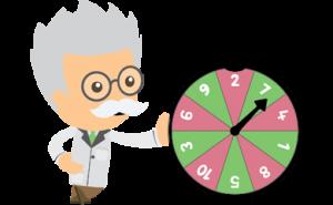 person som spelar ett spel - free spins ikon