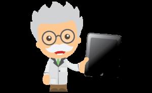 person med en tablett - casinoexpert.se ikon