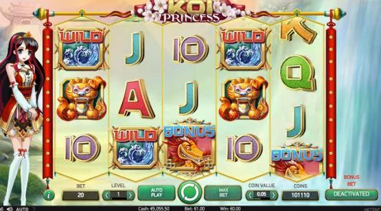 Koi Princess slots från NetEnt - Spela gratis på nätet