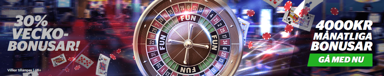 ingen insättningsbonus casino 2018 december