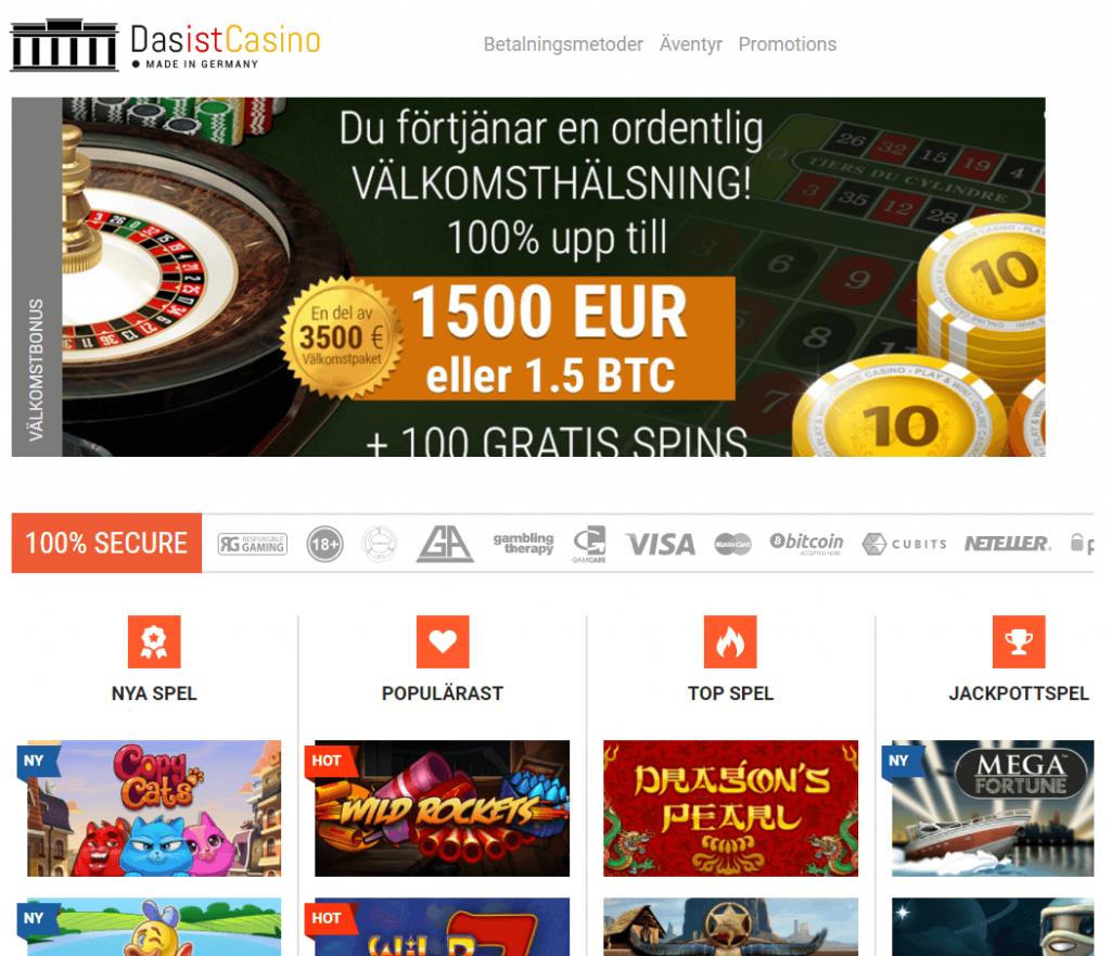 Das Ist Casino homepage
