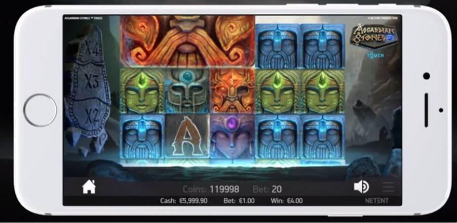 Asgardian Stones via mobil och surfplatta